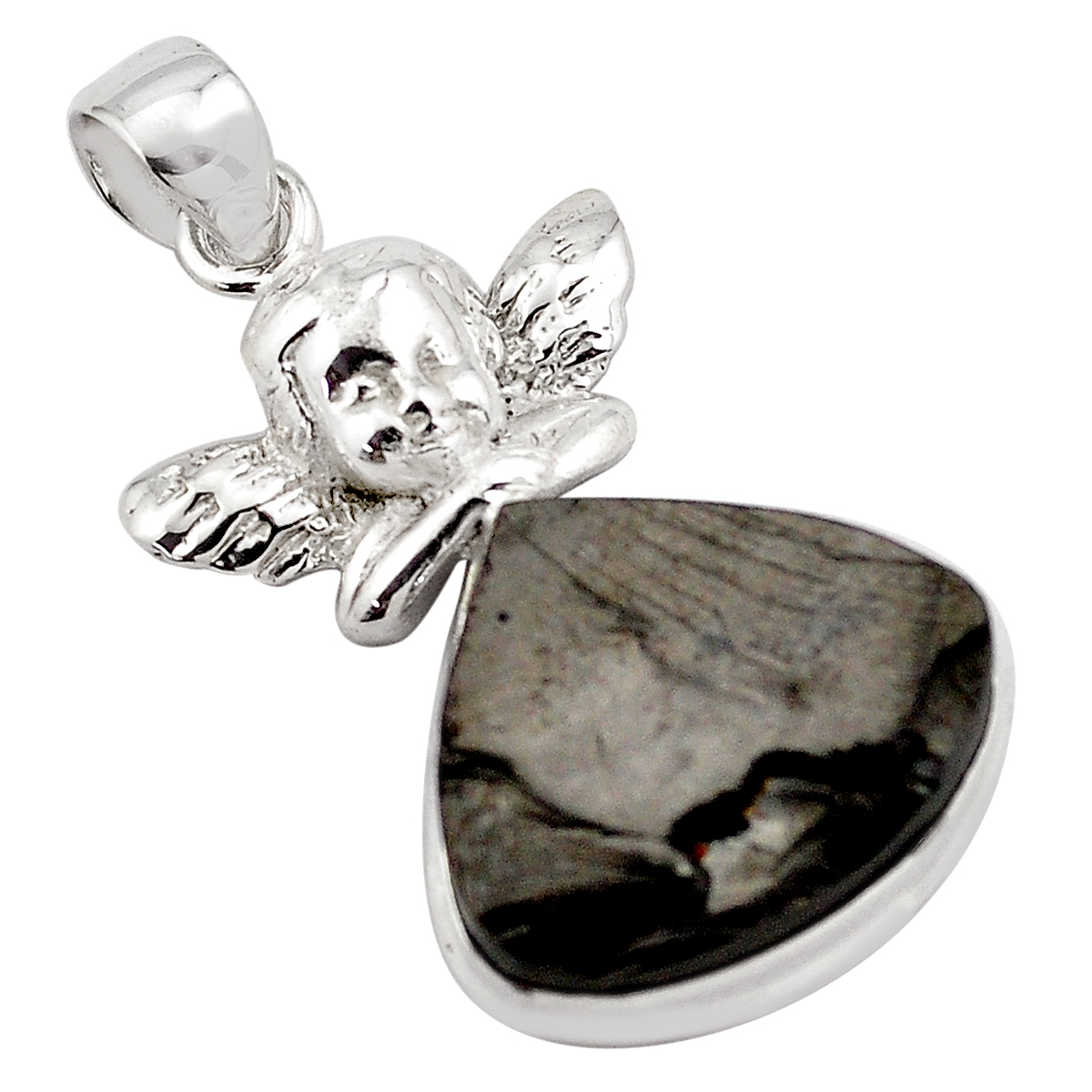 Jewelry Adviser Silver Enamel French Bulldog